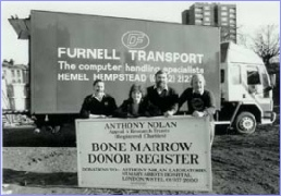 Furnell Transport with Anthony Nolan Bone Marrow Trust
